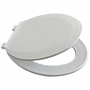 Toilet Seat,Closed Front,18-7/8 In,PK8