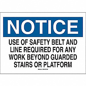 "Notice Sign,7""H,10""W,Plastic"
