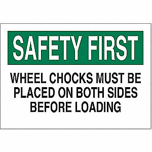 "Chock Wheels, Safety First, Aluminum, 7"" x 10"", With Mounting Holes, Not Retroreflective"
