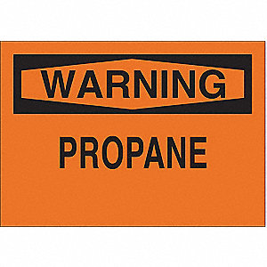 Warning Sign,7 x 10In,BK/ORN,PRPN,ENG