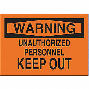 "Authorized Personnel and Restricted Access, Warning, Polyester, 10"" x 14"", Adhesive Surface"