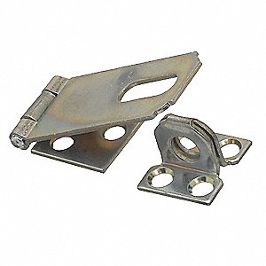 Hasp,Fixed,Steel,Zinc Plated,2-1/2 In. L