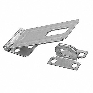 "Conventional Fixed Staple Hasp, 7/8""H x 1-1/2""W x 4-1/2""L, Zinc Plated Finish"