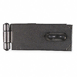 Hasp,Fixed,Steel,Natural,2-1/2 In. L