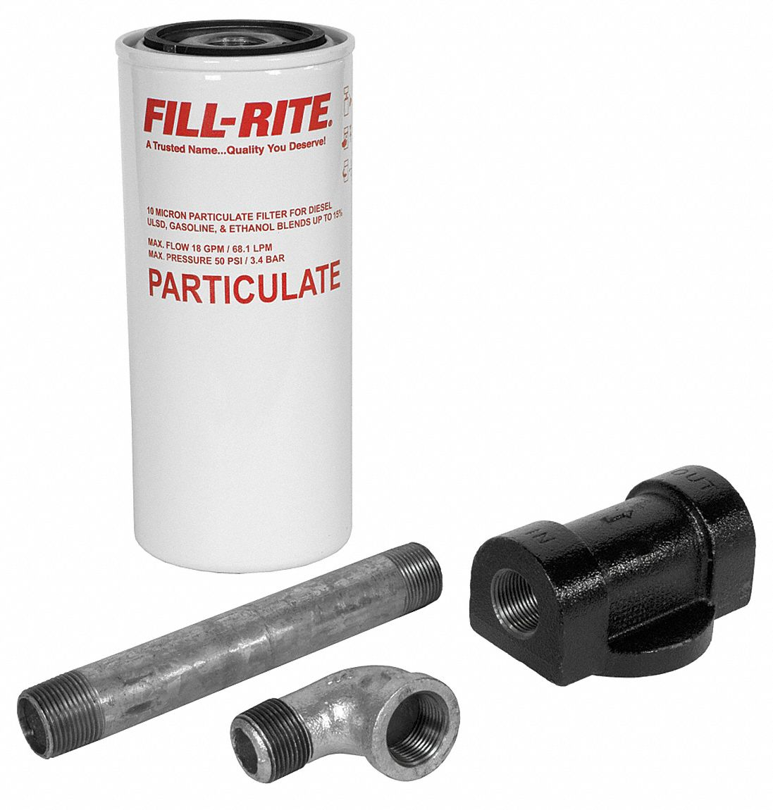 "FILL-RITE Filter Head Fuel Filter Housing, 3/4"" NPT - 4FY21