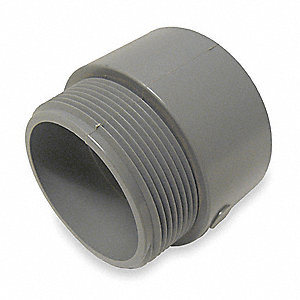 "2"" PVC Male Adapter, 2-3/16"" Overall Length"