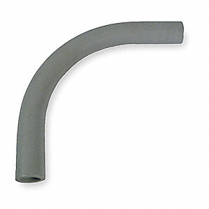 "Elbow 90 Degree, PVC, 2"" Conduit Size, 15"" Overall Length"