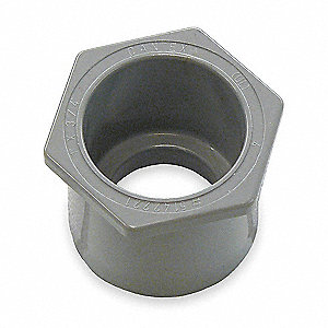 "2"" x 1-1/2"" PVC Reducer, 1-3/5"" Overall Length"