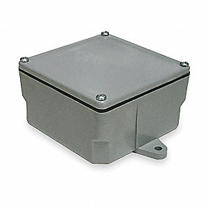 Electrical Box,PVC,4.396x4.396x4.50