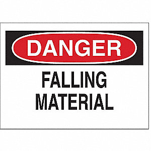 "Facility, Danger, Polyester, 10"" x 14"", Adhesive Surface, Not Retroreflective"