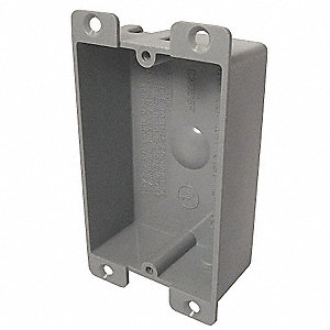 "Electrical Box, PVC, 1-1/4"" Nominal Depth, 2-3/8"" Nominal Width, 3-1/4"" Nominal Length"