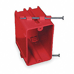 "Electrical Box, Polycarbonate, 3-1/8"" Nominal Depth, 2-1/4"" Nominal Width, 2-1/4"" Nominal Length"