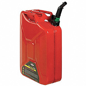 Gas Can,5 Gal.,Red,Steel