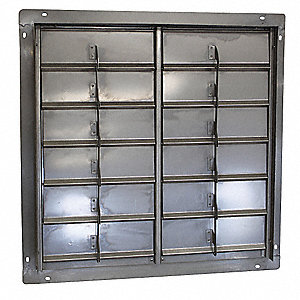 "36"" Backdraft Damper / Wall Shutter, 36-1/2"" x 36-1/2"" Opening Required"