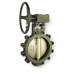 "Lug-Style Butterfly Valve, Carbon Steel, 285 psi, 8"" Pipe Size"