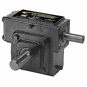 Washdown Cast Iron Indirect Drive Speed Reducer, Double Output, 650 lb. Overhung Load