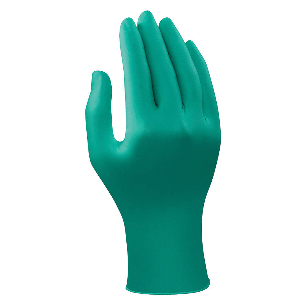 100PK L ANSELL 92-600 Green Nitrile Disposable Gloves