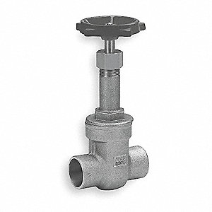 "Class 125 Solder Gate Valve, Inlet to Outlet Length: 4-13/16"", Pipe Size: 2-1/2"", Max. Fluid Temp.:"
