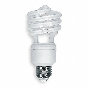 23 Watts Screw-In CFL, T2, Medium Screw (E26), 1600 Lumens, 2700K Bulb Color Temp.