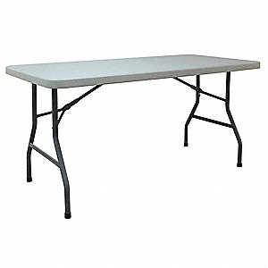"29-1/4""H x 60""W x 30""D Rectangle Folding Table, White"