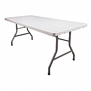 Folding Table,72 in.x30 in.x30 in.,White