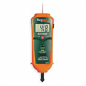 Tachometer, 0.5 to 20, 000 rpm