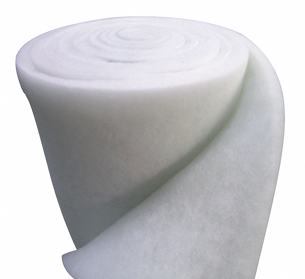 Air Filter Roll, 30 ft Nominal Width, 50 in Nominal Height, Polyester