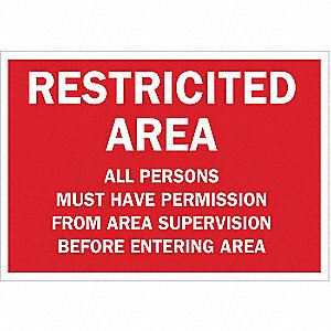 Security Sign,7 x 10In,WHT/R,ENG,Text