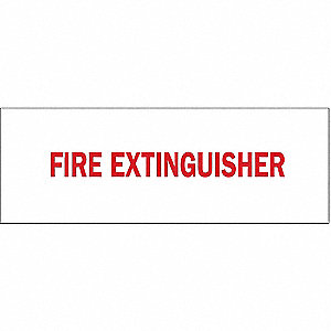 Fire Extinguisher Sign,3-1/2 x 10In,FEXT