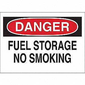 Danger No Smoking Sign,7 x 10In,ENG,Text