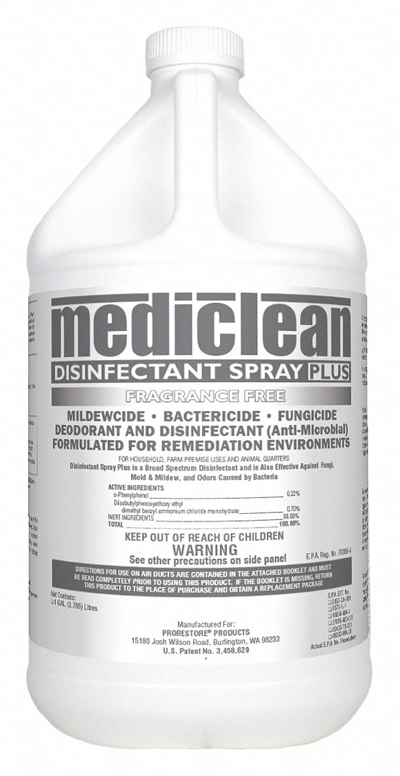 Disinfectant,  1 gal Cleaner Container Size,  Jug Cleaner Container Type,  Unscented Fragrance