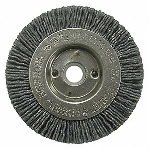 WHEEL BRUSH,3 IN D,WIRE 0.040/120 I