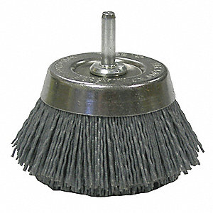 CUP BRUSH,2 3/4 IN D,WIRE 0.035/180