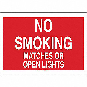 "No Smoking, No Header, Plastic, 7"" x 10"", With Mounting Holes, Not Retroreflective"