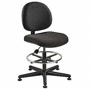 Pneumatic Task Chair with 300 lb. Weight Capacity, Black