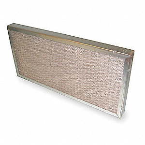 12x24x2 Washable Aluminum Mesh Filter For Use With Mfr. No. E-1400G, Frame Included: Yes