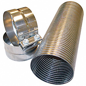 "18"" — Metal Exhaust Kit with 4"" Inside Dia., Silver"