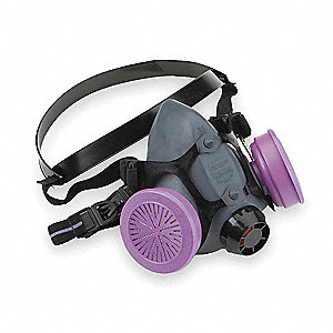 Half Mask Respirator,Threaded,S