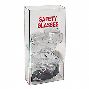 "8"" x 4"" x 15-1/4"" PETG Protective Eyewear Dispenser, Clear&#x3b; Holds Up to (25) Pairs"