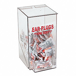 Ear Plug Dispenser,Univ,Holds 100 PR