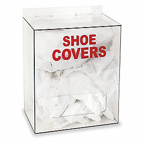 "12"" x 8"" x 14"" PETG Shoe/Boot Cover Dispenser, Clear"