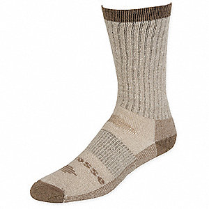 Mid-Calf Merino Wool, Nylon Work Socks, Men's, Khaki, 1 PR