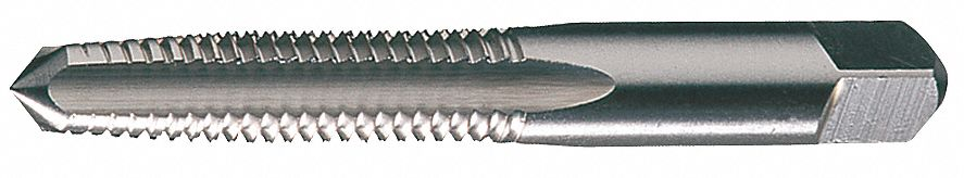 Straight Flute Tap,  Thread Size #6-32,  UNC, UNJC,  Taper,  Overall Length 2 in,  High Speed Steel