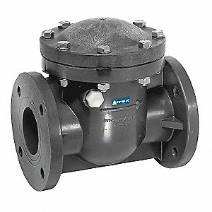 "6"" Swing Check Valve, PVC, Flanged Connection Type"