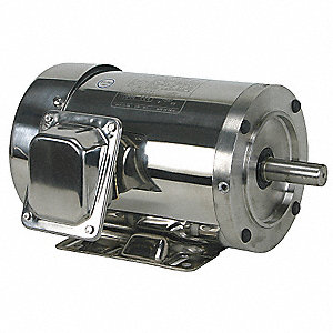2 HP Washdown Motor,3-Phase,1750 Nameplate RPM,208-230/460 Voltage,Frame 145TC