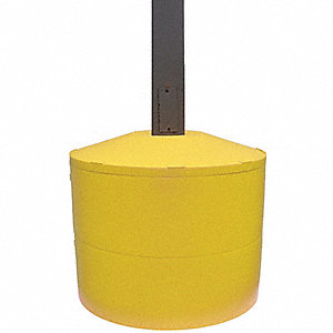 "22-1/4""H Light Pole Base Cover, Yellow; For Post Shape: Square, For Post Size: 6"" dia."
