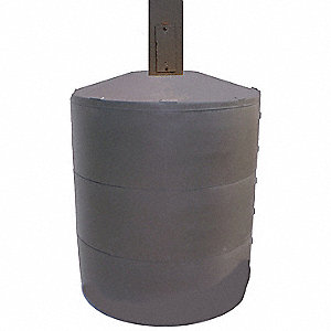 "Light Pole Base Cover, Brown, For Post Size 6"", For Post Shape Square"