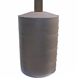 "Light Pole Base Cover, Brown, For Post Size 8"" dia., For Post Shape Round"