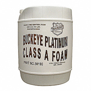 Class A Foam Concentrate, 5 gal., Proportioning 0.10% to 1%, For Use With Most Conventional Foam Pro