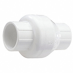 "1-1/2"" Swing Check Valve, PVC, Hub Connection Type"